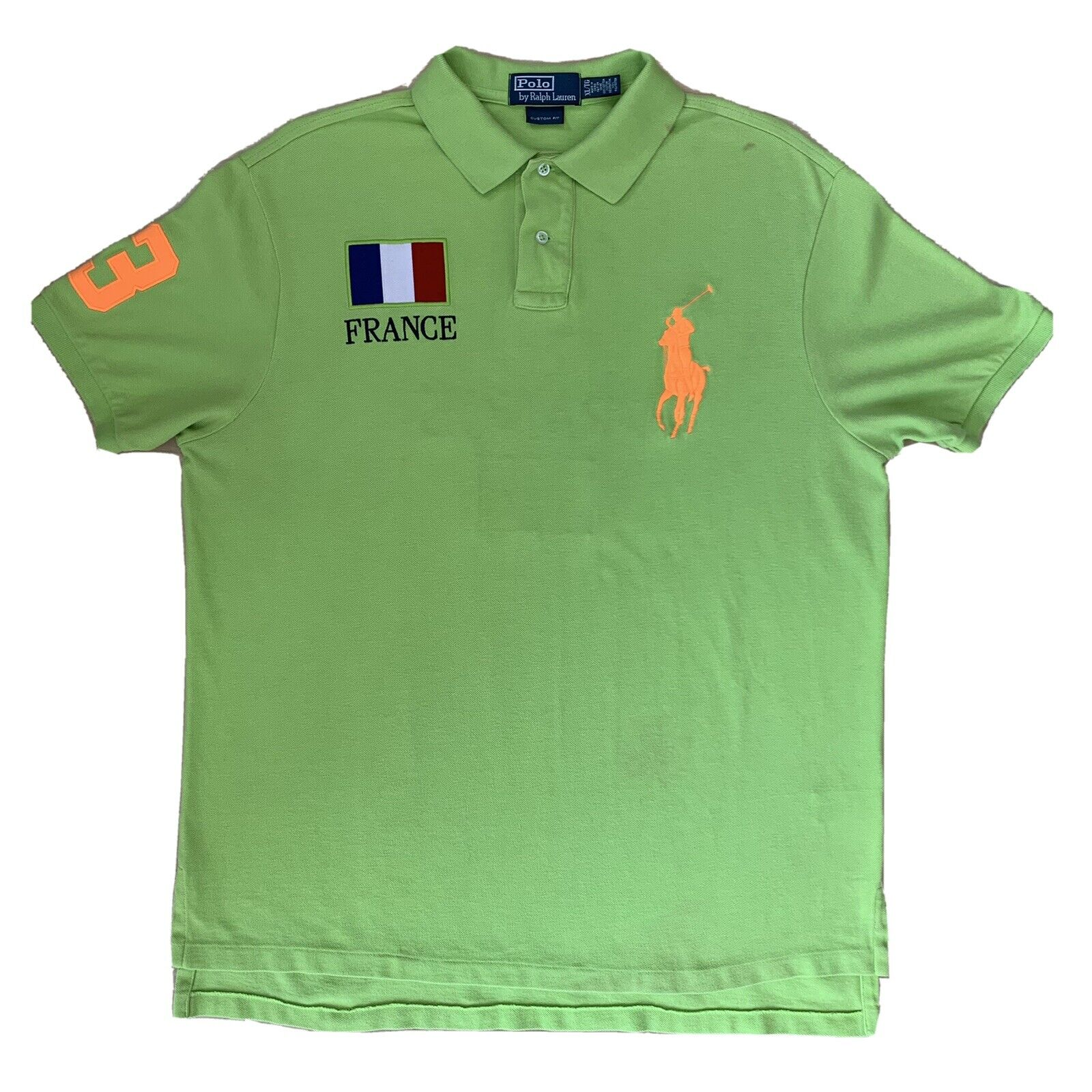 Vintage Polo Ralph Lauren France Rugby Shirt XL G… - image 1