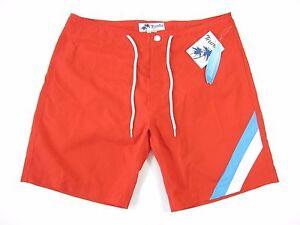 14ed99a0d1 TRUNKS BRAND STRIPED RED BLUE 34 SWIM TRUNKS SHORTS MENS NWT NEW | eBay