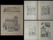 PARIS, 10 BOULEVARD MONTPARNASSE - PLANCHES ARCHITECTURE 1890 - JULES LISCH