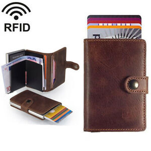 Auto-Pop-up-PU-Leather-Credit-Card-Holder-Cash-Wallet-Clip-RFID-Blocking-Purse