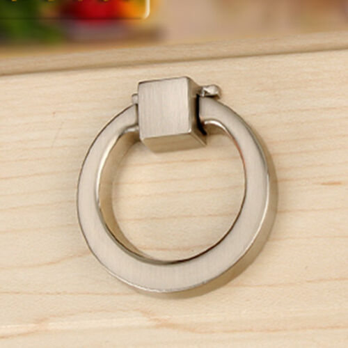 1 X Small Alloy Ring Pull Handle Drawer Kitchen Cupboard Cabinet Door Knob 42mm