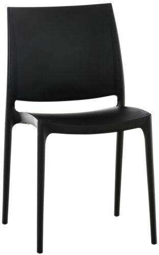 Stuhl MAYA stapelbar Lehne Kunststoff Gartenstuhl Küchenstuhl wasserabweisend