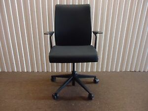 Steelcase Think Office Chair Think Conference Image Is Loading Thinkofficechairinblackfabricbysteelcase Ebay Think Office Chair In Black Fabric By Steelcase Adjustable