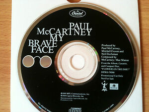 PAUL-McCARTNEY-039-BRAVE-FACE-039-Rare-USA-PROMO-Only-CD-Single-1989-THE-BEATLES-NEW