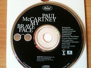 PAUL-McCARTNEY-BRAVE-FACE-Rare-USA-PROMO-Only-CD-Single-1989-THE-BEATLES-NEW