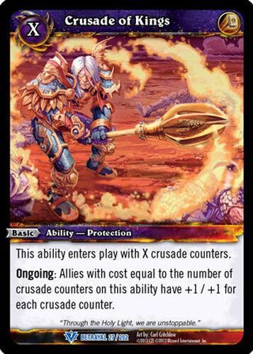CRUSADE OF KINGS X 3 WOW WARCRAFT TCG BETRAYAL OF THE GUARDIAN