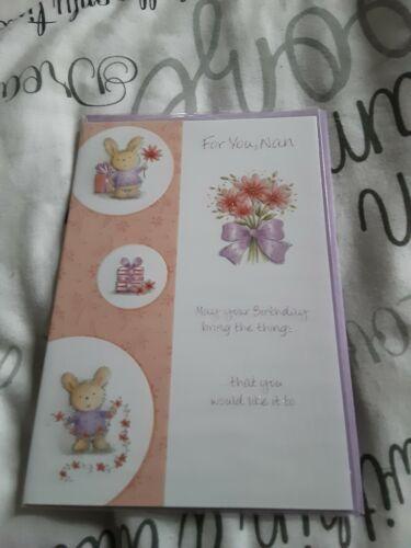 flores Tarjeta De Cumpleaños Nan BNIP-conejos