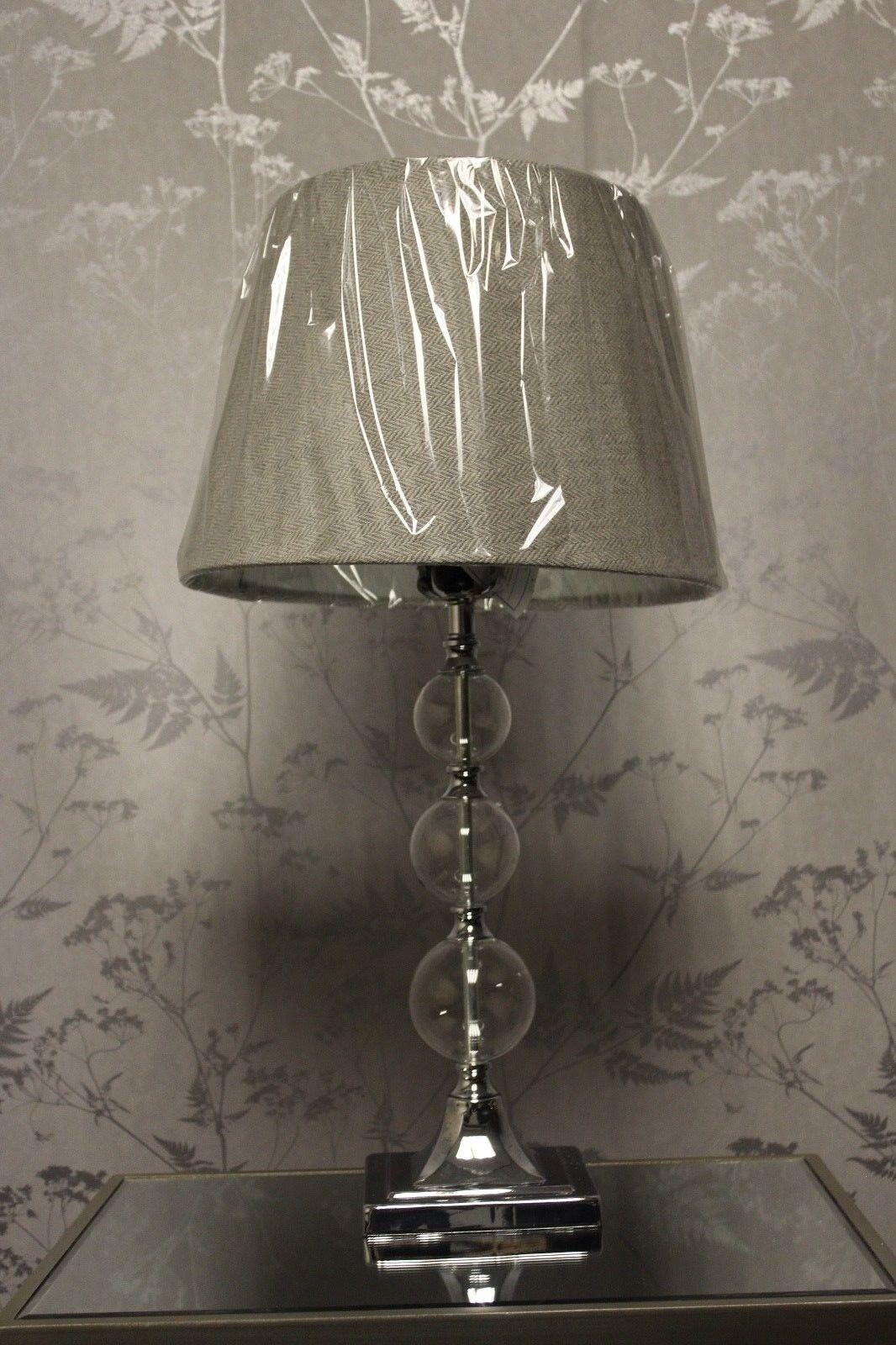 Table Lamp, Catalina,  Glass, Metal.