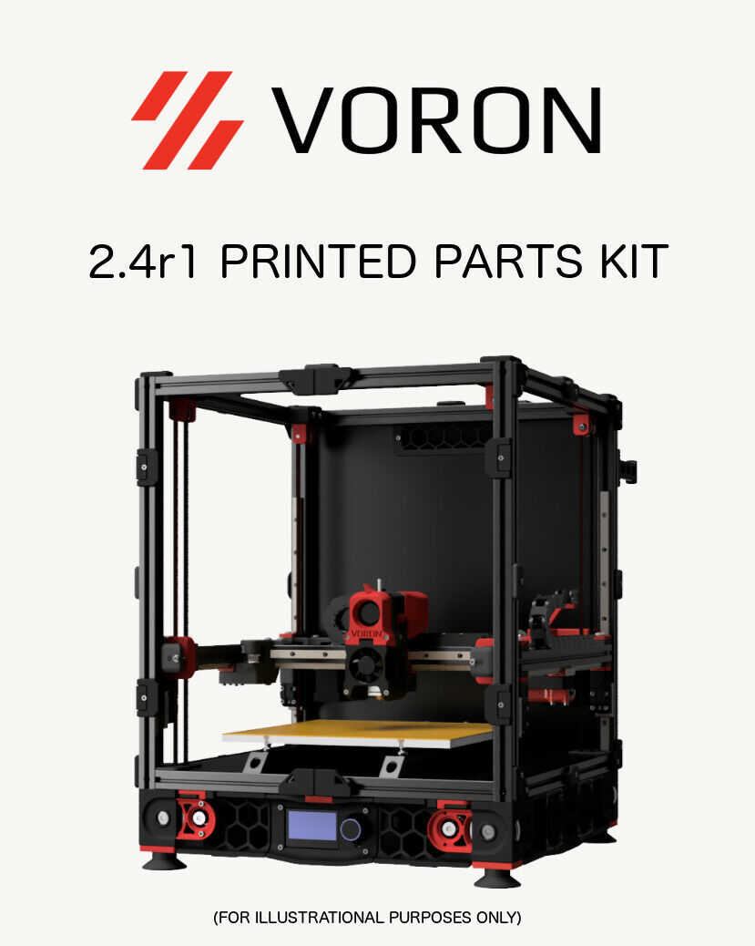 Voron 2.4r1 Printed Plastic Parts Kit ASA 50% Grid Infill Black Accent USA Made!