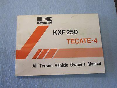 KAWASAKI TECATE 4 KXF250 88 owners manual