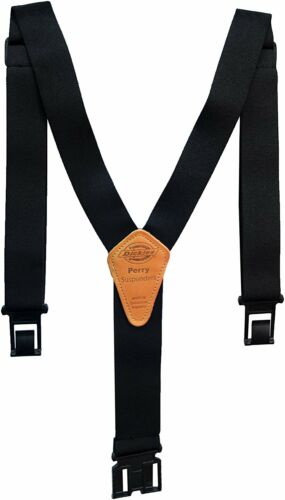 Perry Dickies Men Suspender Black One Size Mens Dickie Clips Clothes Pants Gift