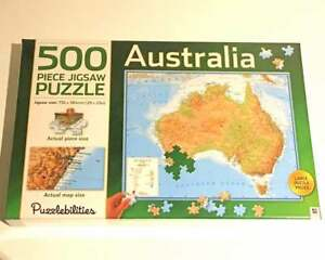 Australia Map Jigsaw.Details About New 500pc Jigsaw Puzzle Puzzlebilitites Australia Map Puzzle Geography Gift