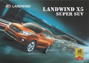 Lufeng Landwind X5 SUV car (made in China) _2015 Prospekt / Brochure