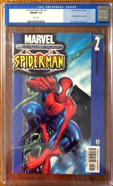 Ultimate Spider-Man#2 CGC 9.8 WP Swinging Variant First Print