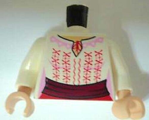 Lego Indiana Jones Minifigure body Torso Marion Ravenwood Minifig Part 7195