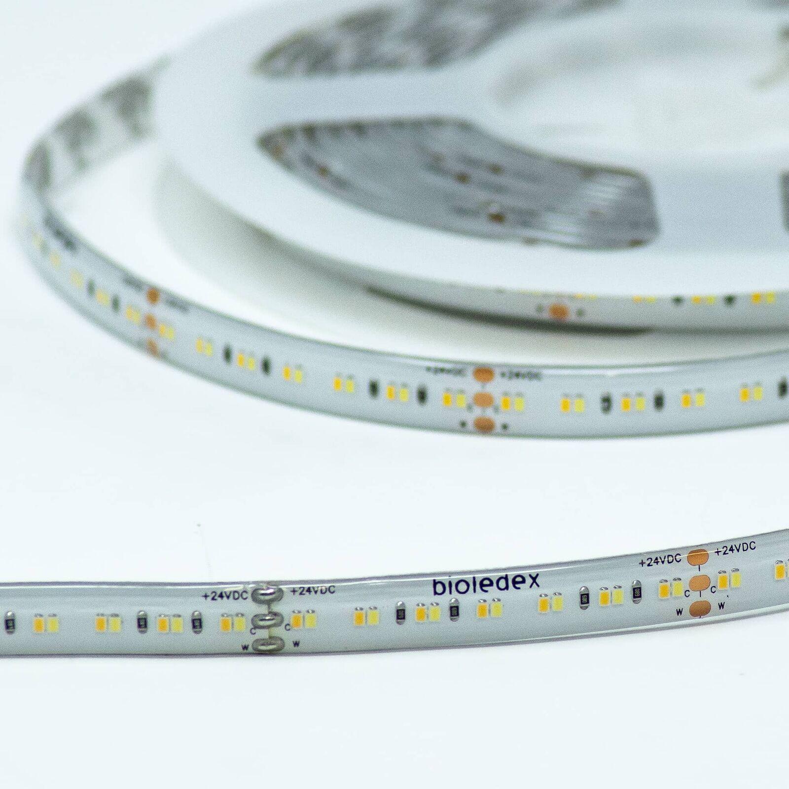 Bioledex LED Streifen 24V 90Ra 19,2W m 252LED m 2700-6500K IP65 5m Rolle tunable