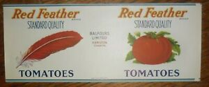 Red-Feather-Tomatoes-Label-Balfours-Hamilton-Ontario-Canada-No-Weight-Listed