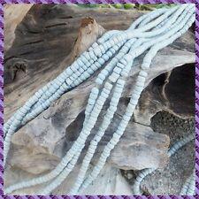 2 fils de perle Coco rocaille de 40 cm chacun diamètre 6 mm +/-