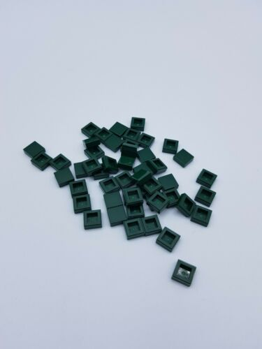 LEGO LOT 50 X TILE 1X1 EARTH GREEN  REF 3070  *NEUF*