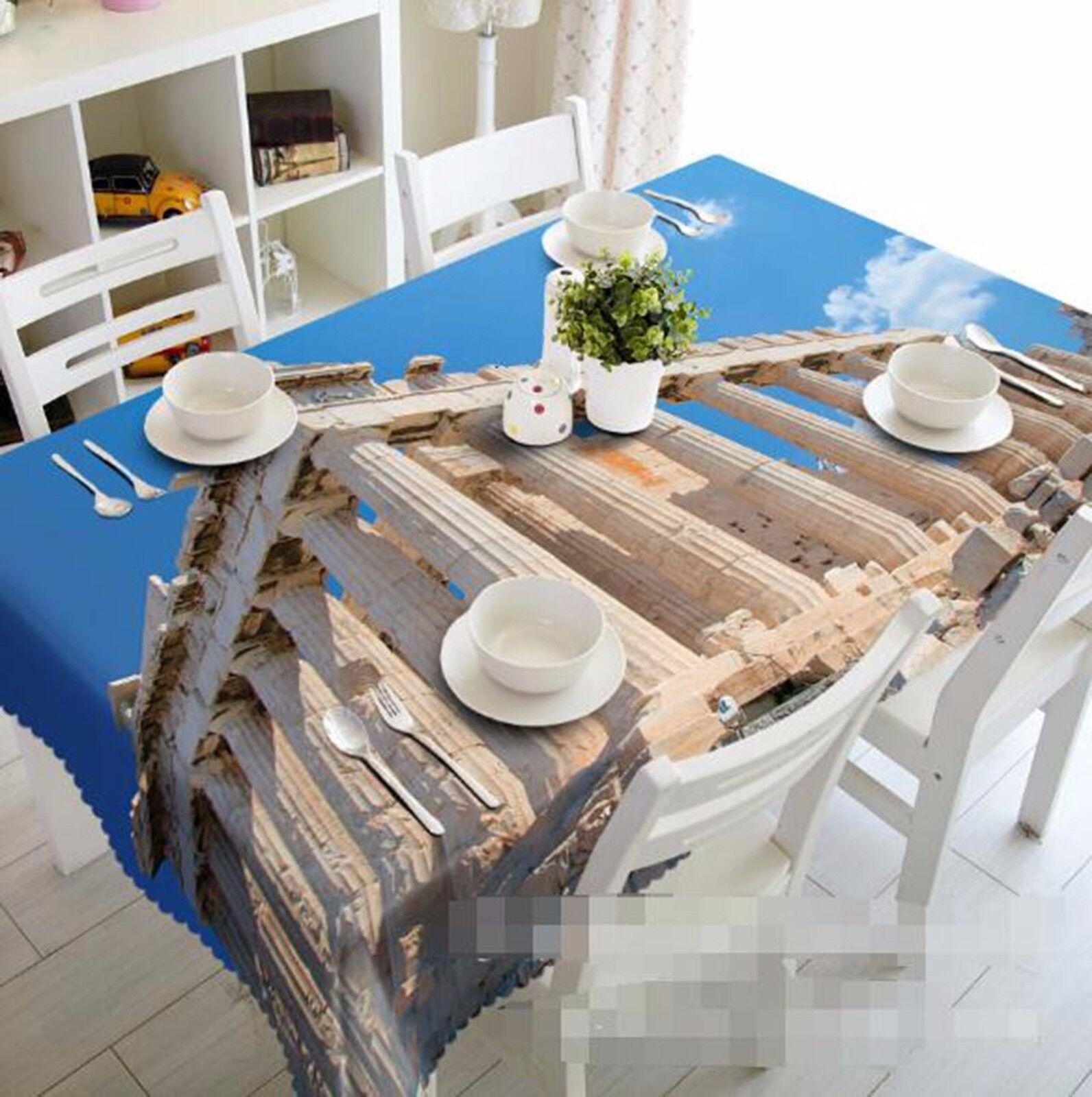 3D ciel pilier Nappe Table Cover Cloth fête d'anniversaire AJ papier peint Royaume-Uni Citron