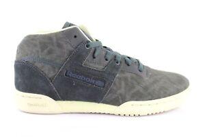 Details zu Reebok Workout Mid Island Camo M46820 Sneaker Schnürschuhe Schuhe Grau Gr. 40