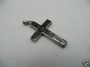 croix pendentif breloque argent massif niellé XIX eme cross sterling silver 19th kEilRUJf-07203312-551039075