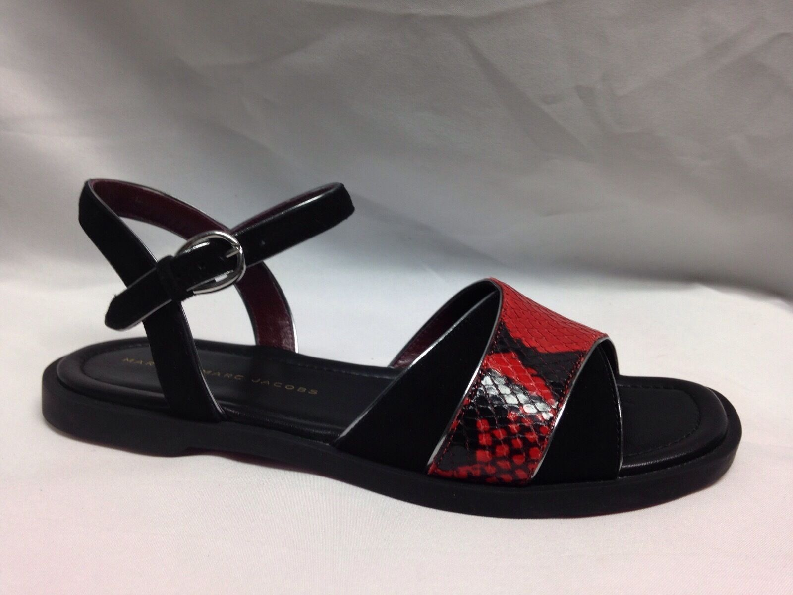 Marc Jacobs Ankle Strap Sandal 6.5 Red M9000661  New New New w  Box 554f91