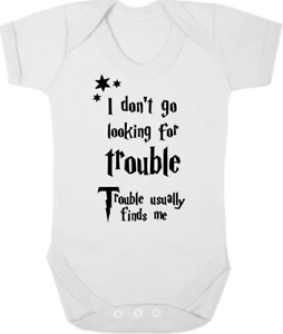 Flight Tracker Harry Potter Bodysuit/grow/sleep Suit Baby Shower I Don't Go Looking For Trouble To Suit The PeopleS Convenience Boys' Clothing (newborn-5t)