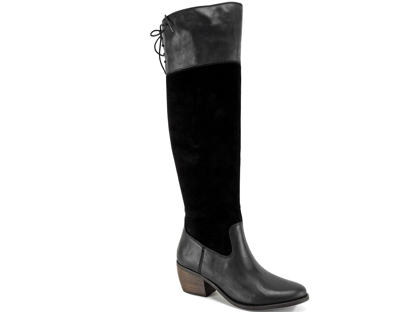 Lucky Brand Women's Komah Boots Black Tuscadero Leather Size 8.5 M