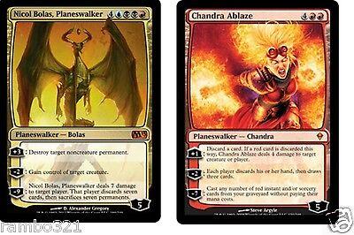 Nicol Bolas + Chandra Ablaze + 20 Random Rares MTG Magic BDAY XMAS GIFT LOT !