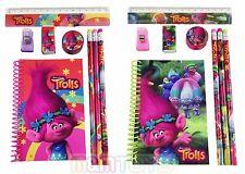 Set of 2 DreamWorks Trolls Poppy  School Stationery Set for Kids