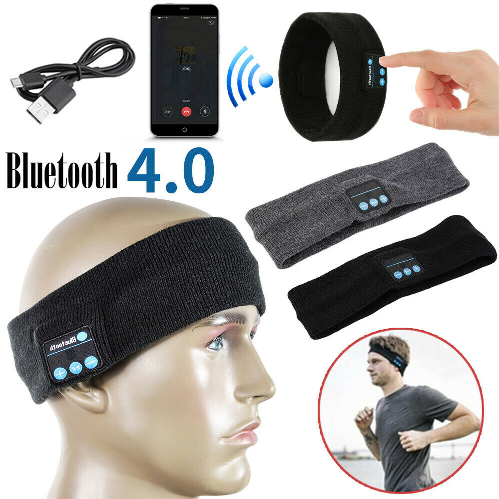 Bluetooth Wireless Stereo Headphone Head Band Sleep Sports M