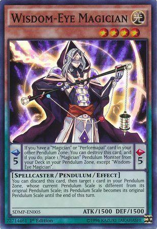 Super Rare 1st Ed NM Wisdom-Eye Magician SDMP-EN005