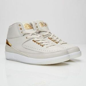 huge selection of b6d25 4629a Details about 2016 Nike Air Jordan 2 II Retro Quai 54 Size 13. 866035-001.  Gold Bone. OVO Q54