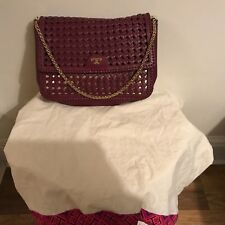 4f9d8866cbf item 3 Tory Burch Woven Leather Erica Shoulder Bag in burgundy colour -Tory  Burch Woven Leather Erica Shoulder Bag in burgundy colour