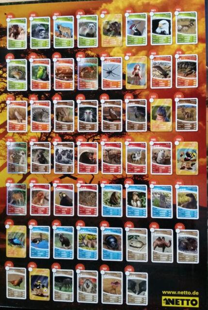 NETTO: Ozeanien 4 - Jetzt wird's wild - Sammelkarten aussuchen (Nr. 055 - 108)