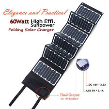 60W Folding Solar Panel Solar Charger For Laptop Tablet Car Battery Cell Phones