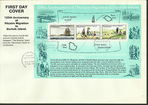 NORFOLK-IS-1981-PITCAIRNERS-MIGRATION-Souvenir-Sheet-FDC