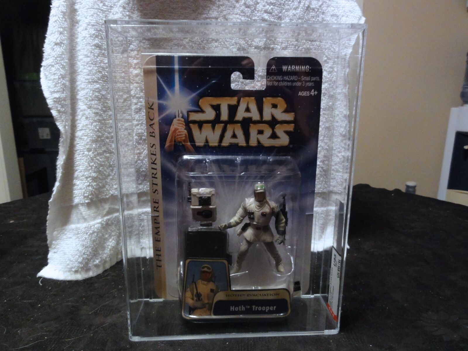 Star Wars 2003 Star Wars ESB Gold Hoth Trooper AFA Sealed MIB BOX