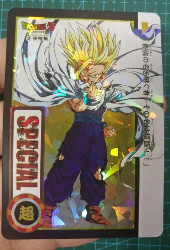 FAN CARD DRAGON BALL SON GOKI SUPER SAIYAN PRISM 1 PIECE NICE CARD