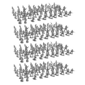 400PCS-2cm-Black-Army-Men-Soldiers-Toy-Battlefield-Military-Kit-Playset