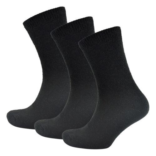 6 Pares de Calcetines Termo para Hombres medias de invierno de los hombres negros