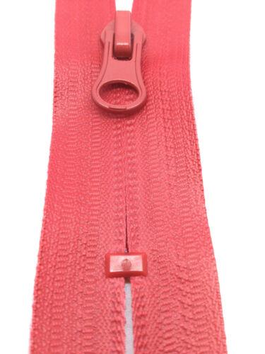 Red Grey Navy CLOSED END Zips Black Waterproof nylon zip zipper
