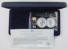 Australia 1998 $1 1 Oz Silver Kookaburra Proof Coin + $5 Phone Card Set - Rare