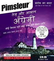 4 Cd English For Hindi Speakers Pimsleur Esl