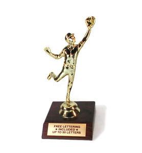 Outfielder-Trophy-Catch-Flyball-Glove-Reach-Desktop-Series-Free-Lettering