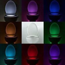 LED WC Badezimmer Nachtlicht PIR-Bewegungsmelder aktiviert Sitzsensor Farbwechs