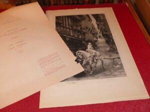 SOCIETE SEPTENTRIONALE GRAVURE A.BESSE (J.LEFEBVRE) Lady Godiva nue signée 1947