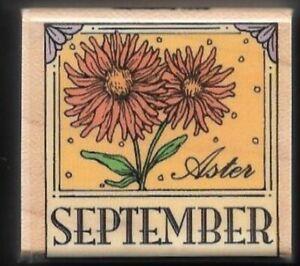 Hero Arts Happy Birthday Calendar Woodblock Stamp