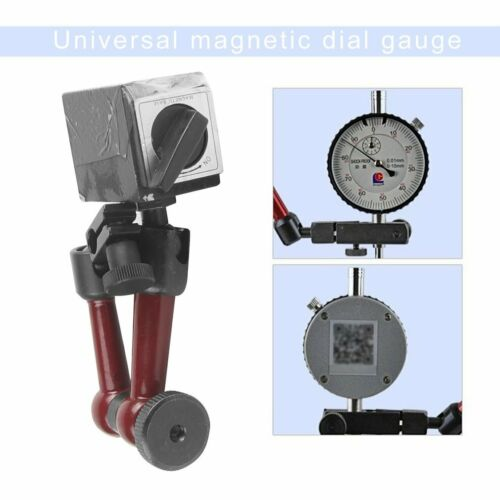 Universal Flexible Magnetic Metal Base Holder Stand w// Dial Test Indicator Tool